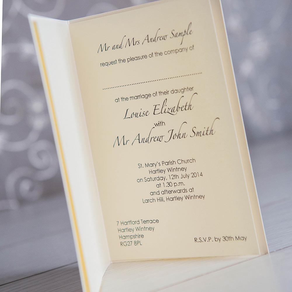 emma a6 wedding invitation