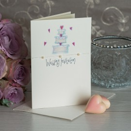 Diamond A6 Wedding Invite